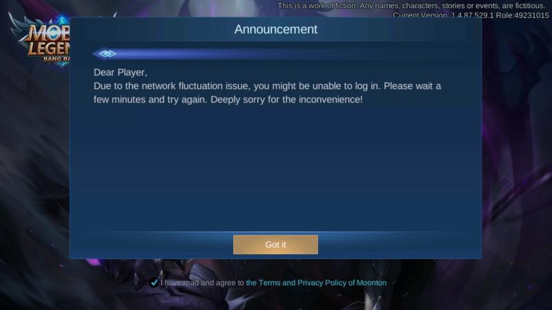 Mayoritas Pemain Tak Bisa Akses Mobile Legends, Server Error?