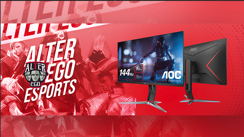 AOC Gaming Monitors Resmi Sponsori Tim Valorant Alter Ego