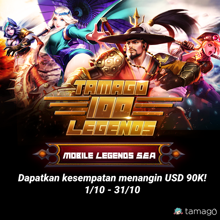 Tamago 100 Legends, Main Mobile Legends Berhadiah Total 1,3 M