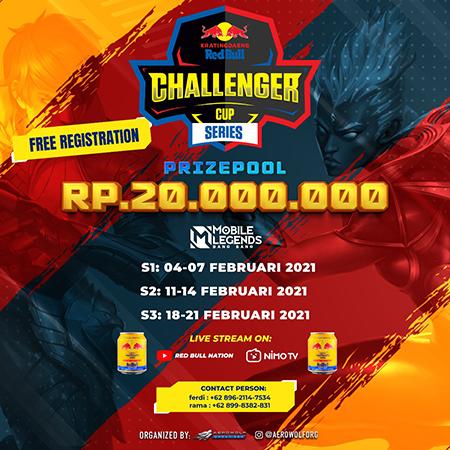 Berhadiah 20 Juta, Kratingdaeng Red Bull Challenger Cup 2021 Digelar!