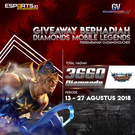 Giveaway Diamonds Mobile Legends dari GudangVoucher!