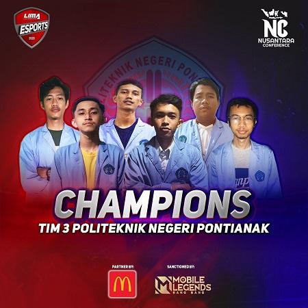 Politeknik Negeri Pontianak Sabet Gelar Juara di LIMA Esports NC