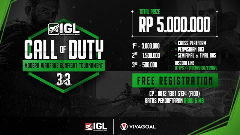 Animo Tinggi, IGL Kembali Gelar Turnamen Eksebisi Call of Duty