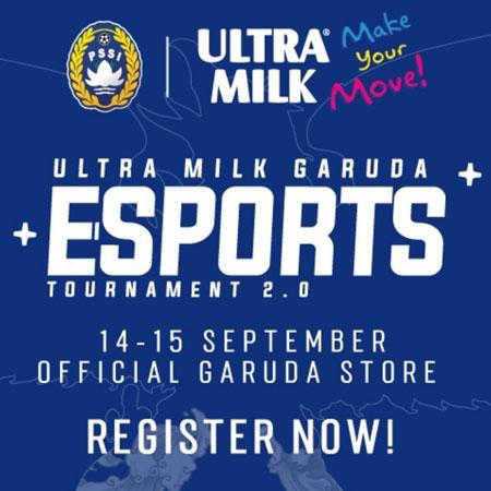 PSSI dan  Ultra Milk Buat Garuda Esports Tournament 2.0!