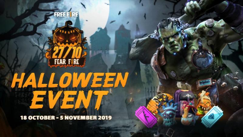 Minggu Teror, Hadiah Horor di Event Halloween Free Fire!
