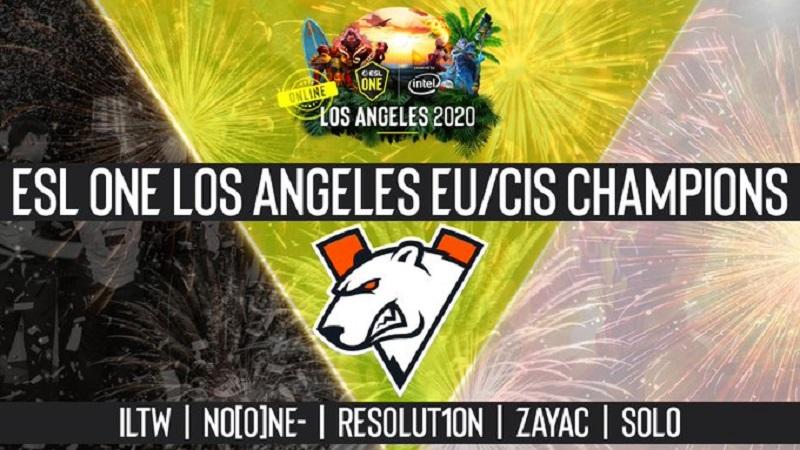 Pecundangi Juara Bertahan TI, VP Kampiun ESL One Los Angeles Online