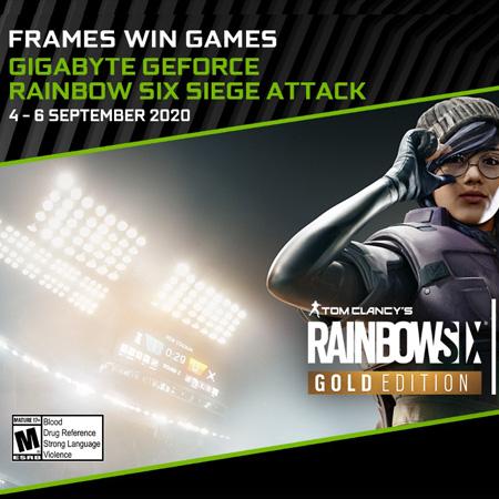 Kolaborasi NVIDIA - GIGABYTE Hadirkan Turnamen Rainbow Six Siege Attack!