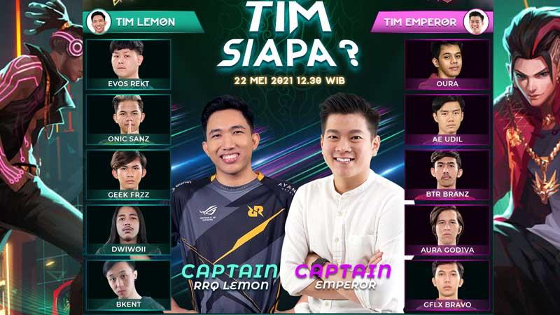 All Star Match MLBB Diumumkan, Ini Tim Lemon dan Emperor!
