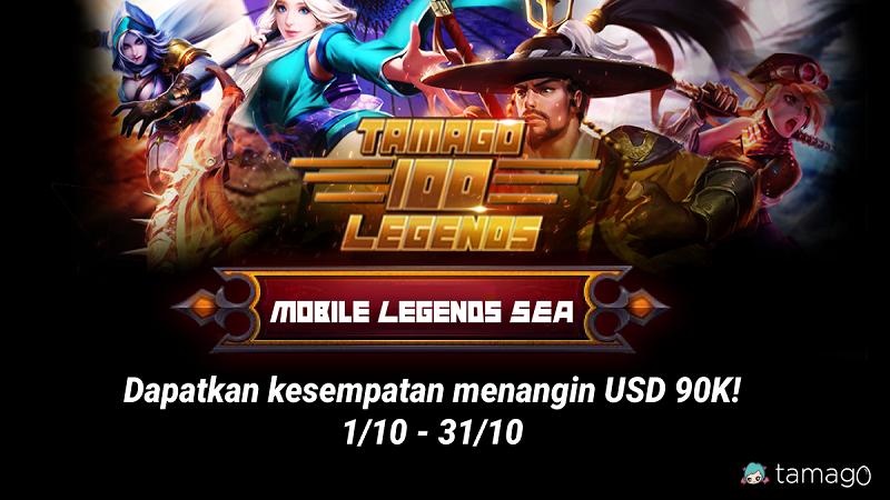 Tamago 100 Legends, Main Mobile Legends Berhadiah Total 1,3 M