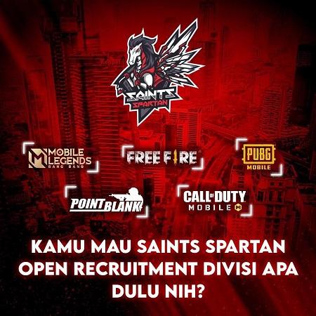 Tim Baru Daylen Saints Spartan Buka Recruitment 5 Divisi Esports, Apa Saja?