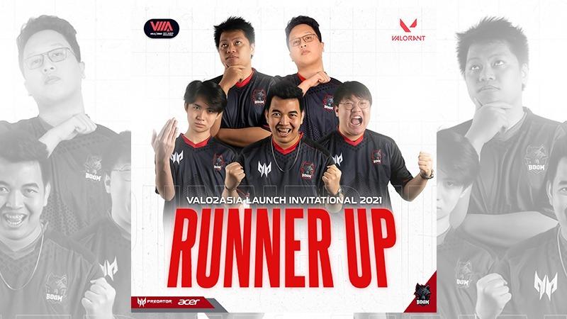 Takluk di Final, BOOM Esports Harus Puas Jadi Runner-up di VALO2ASIA