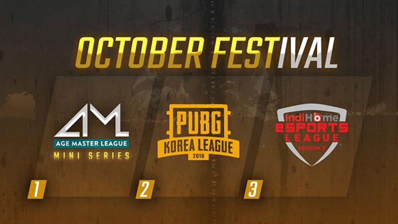 Oktober Fest, Tiga Gelaran eSports Bagi Fans Gamer PUBG!