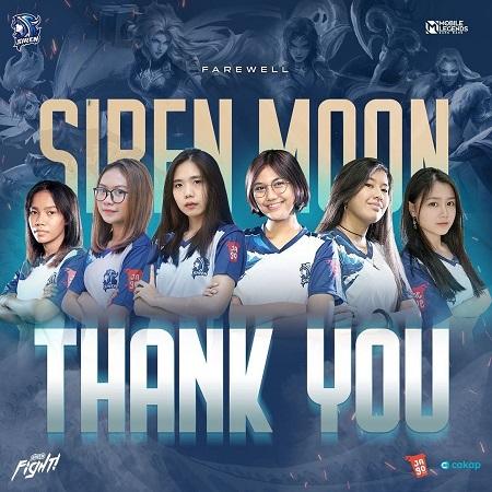 Siren Esports Lepas Divisi Ladies Mereka, Siren Moon