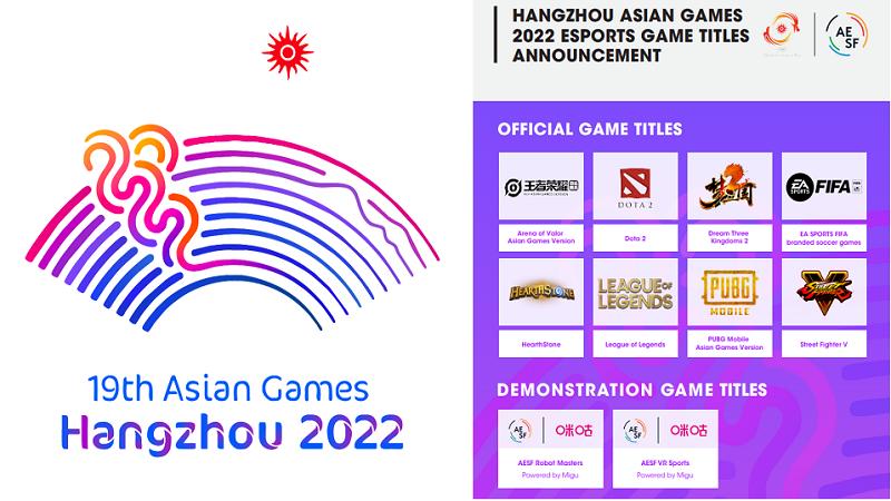 Ini Dia 8 Game Esports yang Dipertandingkan di Asian Games 2022