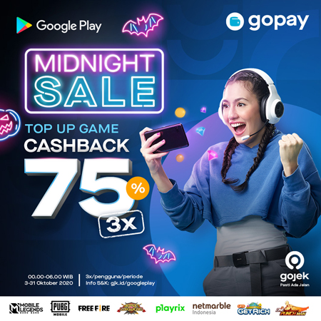 Top Up Game Favorit Kamu via GoPay, Dapatkan 3x Cashback 75%!