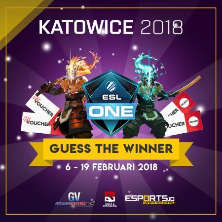 Tebak Juara ESL One Katowice 2018 Berhadiah Arcana DOTA 2!