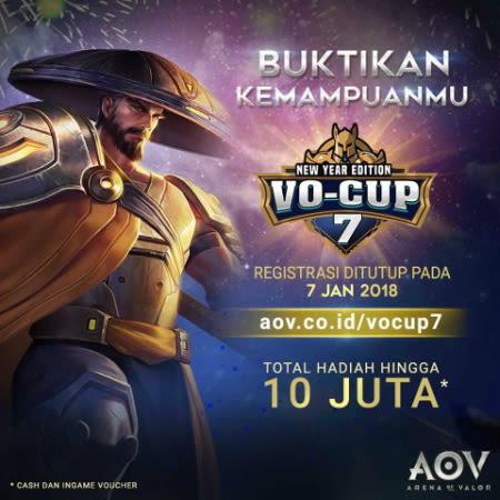 Tanpa Tim Pro, Unjuk Kemampuan di Arena of Valor VO-Cup 7!