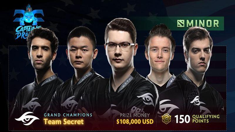Aksi 'Comeback' Team Secret Berbuah Juara di Captain's Draft Minor