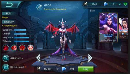 Alice Mobile Legends Penyerap Darah Musuh