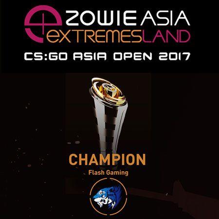 Flash Gaming Rengkuh Juara Asia CS:GO di Zowie eXTREMESLAND 2017
