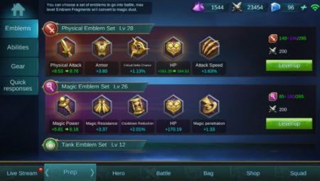 Emblem Mobile Legend Fitur Unik Yang Wajib Anda Gunakan