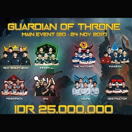 Lanjutkan Performa Apik, PG.Barracx Sabet Juara Guardian of Throne